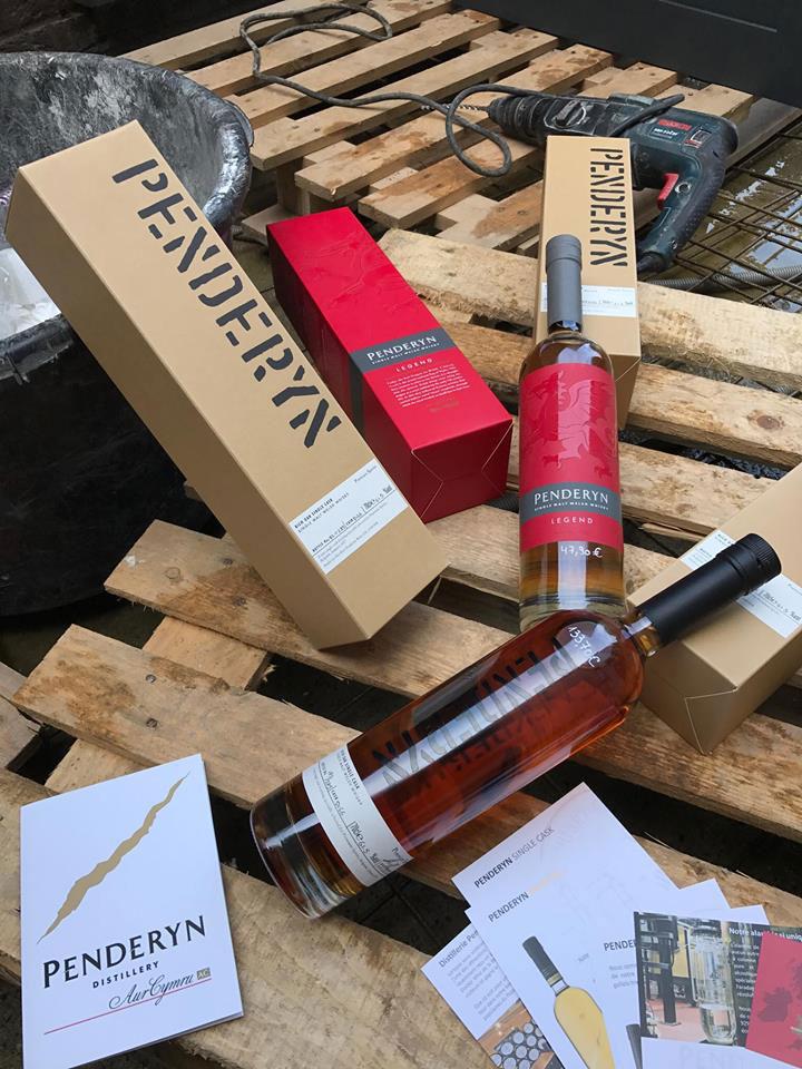 Maison Demiautte, whisky Penderyn sur le chantier